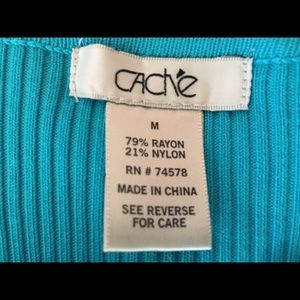Cache' Sweaters - NWOT Gorgeous Cache' zip-front cardigan sweater.